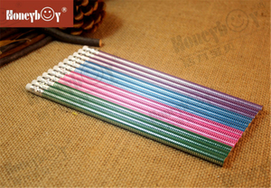 Professional Manufacturer Stripes Round Body Rolling Paint Pencil with Eraser