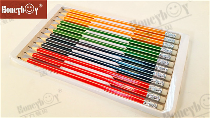 Best Selling Advanced Packaging Stripe Paint Pencil with Eraser