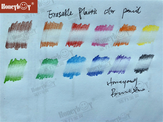 New Erasable Plastic Wood Free Color Pencil From China