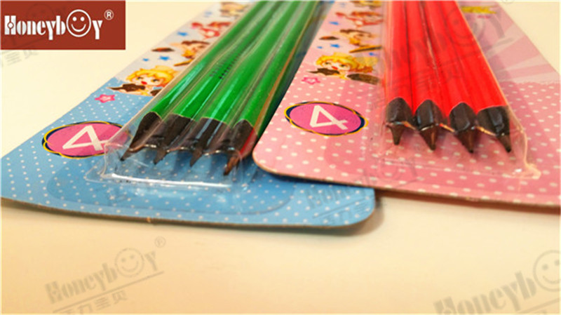 Creative Black Wood Neon Paint Pencil with Blister Packing