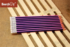 Hot Selling Sharpened Hex Stripe Pencil with Eraser