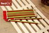 Hot Selling Green And Red Stripe Paint Pencil with Red Dipped Cap From Chinese Factory